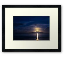 Rangitoto Moonrise Framed Print