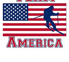 Skiing American Flag Team America by kwg2200