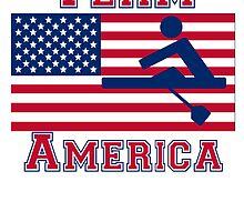 Rowing American Flag Team America by kwg2200