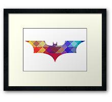 BATMAN retro Framed Print