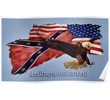 Heritage, Not Hatred Patriotic Eagle Poster