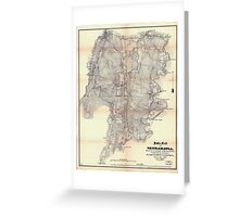 Civil War Maps 0156 Battle-field of Chickamauga Greeting Card