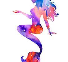 Beautiful Mermaid by Watercolorsart