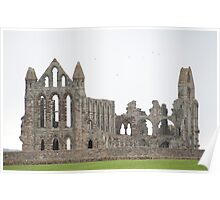 whitby abbey remains Poster