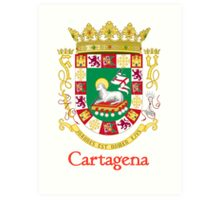 Cartagena Shield of Puerto Rico Art Print