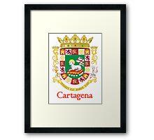 Cartagena Shield of Puerto Rico Framed Print