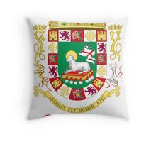 Cartagena Shield of Puerto Rico Throw Pillow