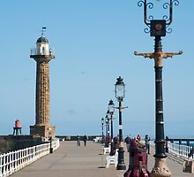whitby stone pier by photoeverywhere