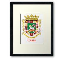 Casas Shield of Puerto Rico Framed Print
