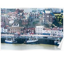 whitby quayside Poster