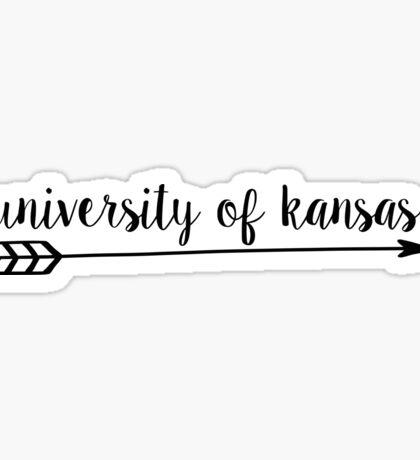 University of Kansas Arrow Sticker