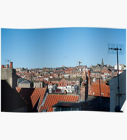 whitby rooftops Poster
