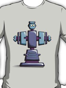 Retro robot – old blue T-Shirt
