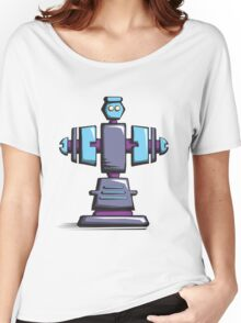 Retro robot – old blue Women's Relaxed Fit T-Shirt