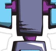 Retro robot – old blue Sticker