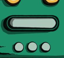 Retro robot – old green Sticker