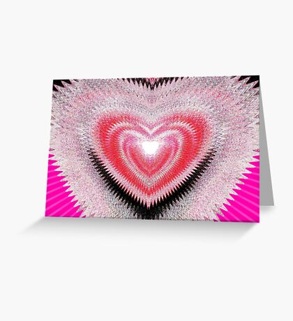 Shimmer Heart Greeting Card