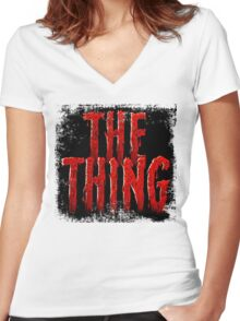 The Thing... Women's Fitted V-Neck T-Shirt
