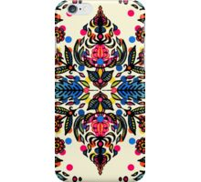 Bright Folk Art Pattern - hot pink, orange, blue & green iPhone Case/Skin