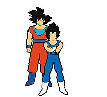 Goku and vegeta fanart. DBZ Photographic Print