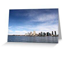 Skyline San Diego Greeting Card