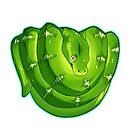 Emerald Tree Boa by cargorabbit
