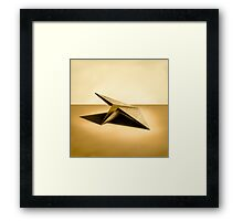 Paper Airplanes of Wood 7 Framed Print
