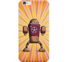 Retro robot – old orange iPhone Case/Skin