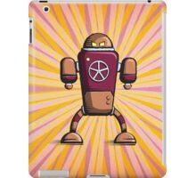 Retro robot – old orange iPad Case/Skin