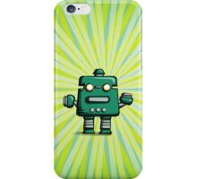 Retro robot – old green iPhone Case/Skin