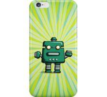 Retro robot – old green iPhone Case/Skin