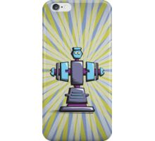 Retro robot – old blue iPhone Case/Skin