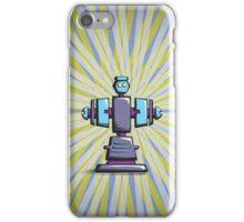 Retro robot – old blue iPhone Case/Skin