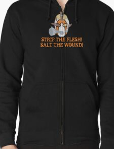 Krieg (2)- Borderlands 2 (Simplified Face&Quote) Zipped Hoodie