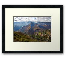 Traveling to Banos-Ambato, Ecuador Framed Print