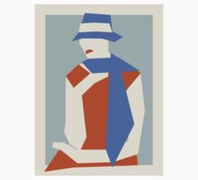Woman In Blue Hat Kids Clothes