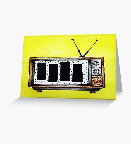Black Flag is in the T.V.  Greeting Card