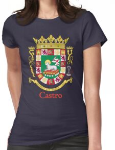 Castro Shield of Puerto Rico Womens Fitted T-Shirt