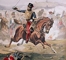Lord Cardigan (1797-1868) leading the Charge of the Light Brigade at the Battle of Balaklava, 25th October 1854 by Bridgeman Art Library