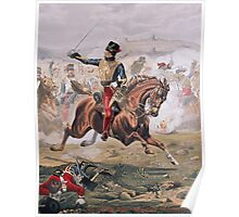 Lord Cardigan (1797-1868) leading the Charge of the Light Brigade at the Battle of Balaklava, 25th October 1854 Poster