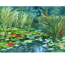 Pink Water Lilies oil Painting by Ekaterina Chernova Photographic Print