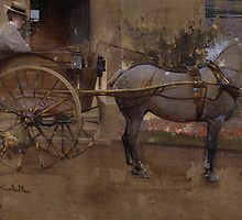 The Governess Cart by Bridgeman Art Library