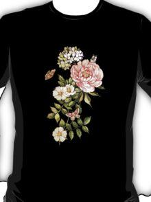 Watercolor vintage floral motifs T-Shirt