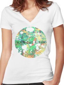 Mr. Mojo Risin' Women's Fitted V-Neck T-Shirt