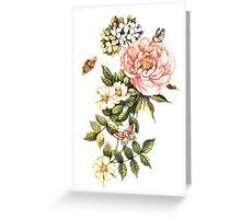 Watercolor vintage floral motifs Greeting Card
