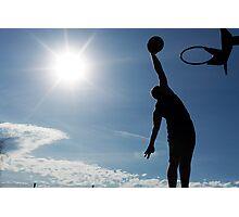 Basketball Silhouette Slam Dunk Photographic Print