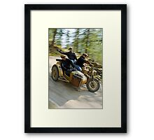 That's the way to ride an army BMW R75  Framed Print