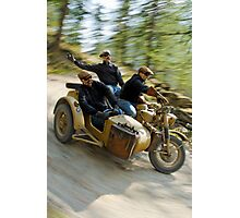 That's the way to ride an army BMW R75  Photographic Print