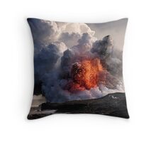 Kilauea Volcano at Kalapana 8 Throw Pillow