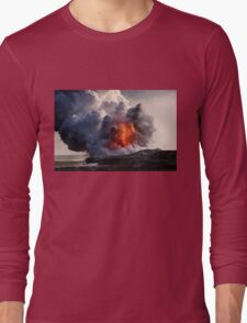 Kilauea Volcano at Kalapana 8 Long Sleeve T-Shirt